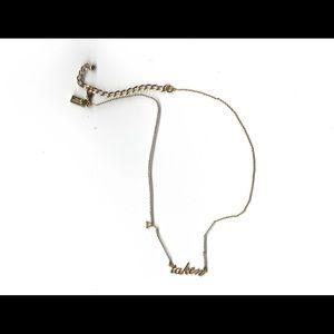 """Gold Kate spade """"taken"""" necklace"""